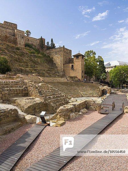 Römisches Theater  Malaga  Provinz Málaga  Andalusien  Spanien  Europa