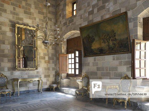 Innenraum im Großmeisterpalast  Rhodos-Stadt  Rhodos  Dodekanes  Griechenland  Europa