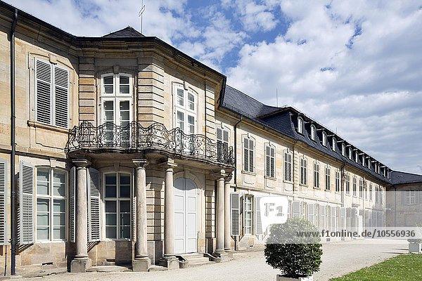 Neues Schloss  Parkseite  Bayreuth  Oberfranken  Bayern  Deutschland  Europa