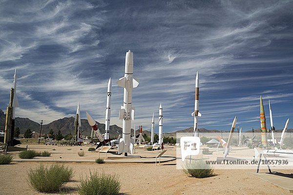 Raketenpark  White Sands Missile Range Museum  Las Cruces  New Mexico  USA  Nordamerika