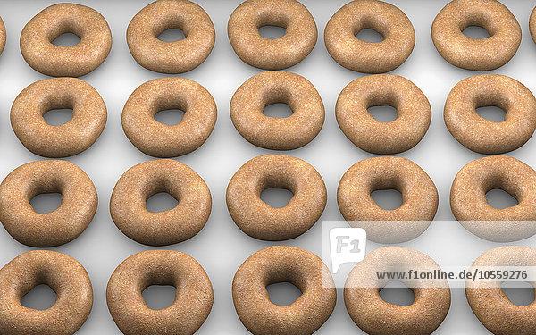 Close-up backen backend backt Donut