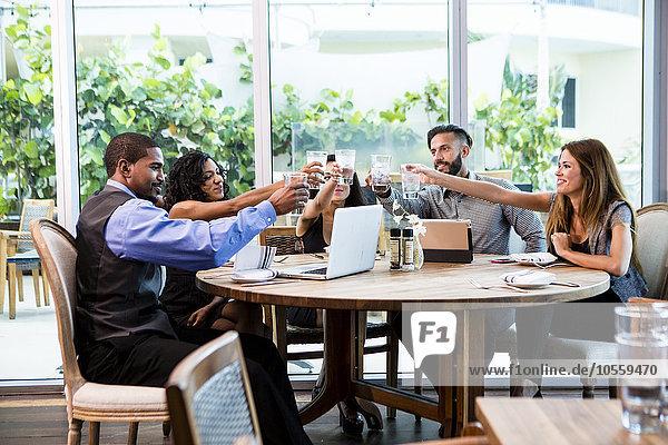 Mensch Menschen Cafe Business Mittagessen
