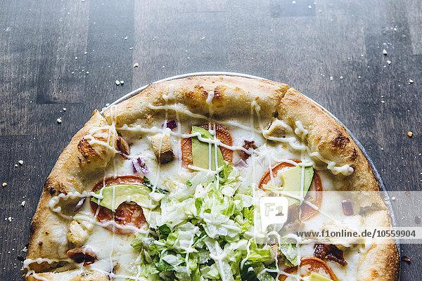 Frische Close-up Pizza Serviertablett