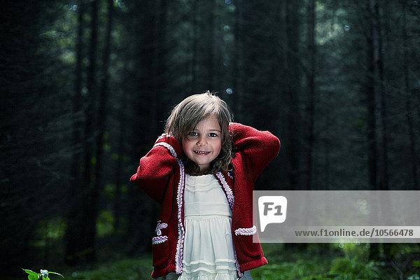 Europäer lächeln Wald Mädchen Europäer,lächeln,Wald,Mädchen