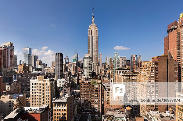 Midtown Manhattan  Empire State Building  New York  USA