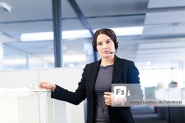 Telefonist im Büro