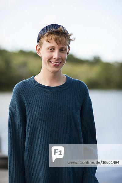 Portrait Jugendlicher lächeln Junge - Person