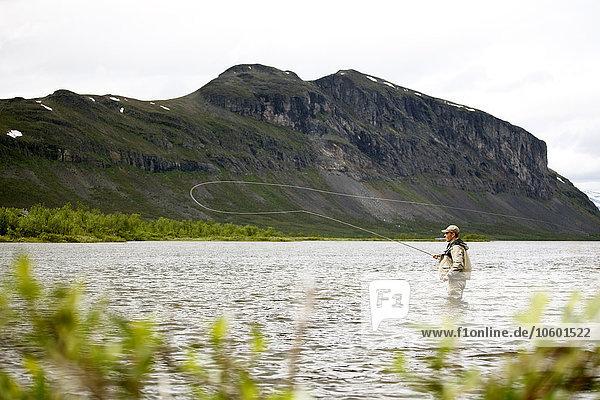 Berg Mann See angeln