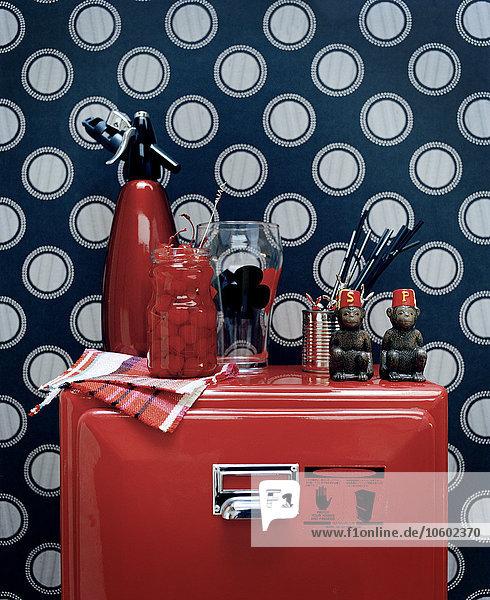 Retro rot Kühlschrank Kollektion Retro,rot,Kühlschrank,Kollektion