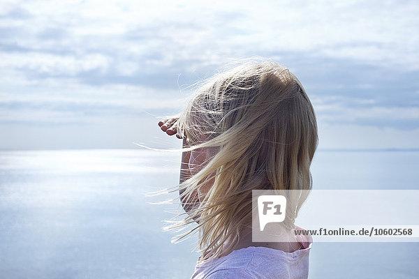 sehen Meer Skane län Mädchen
