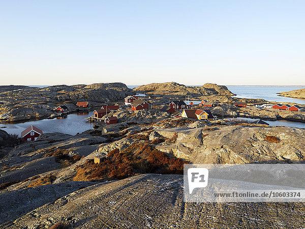 Felsen Gebäude Küste