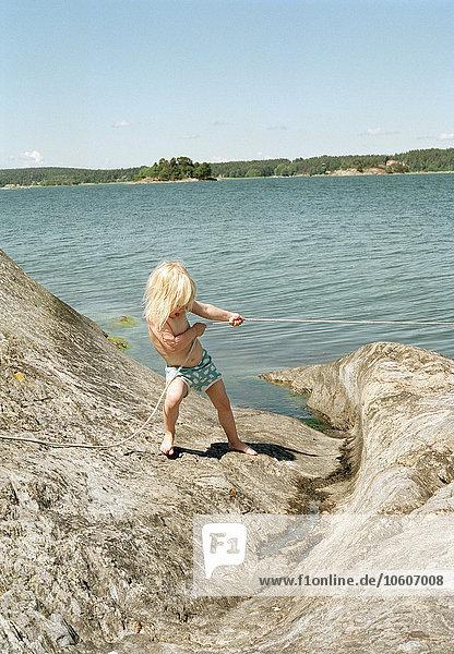 A blond girl  Sweden.