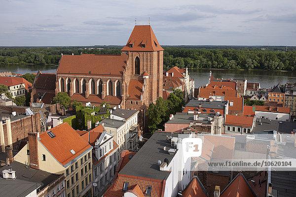 Polen  Torun  Blick auf die Altstadt von oben