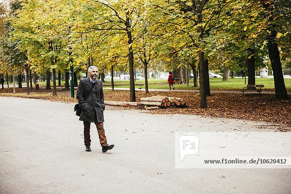 Austria  Vienna  man in Prater avenue