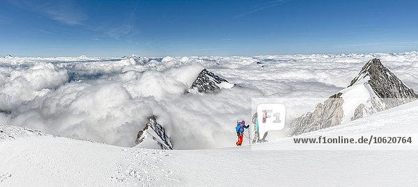 Schweiz  Westberner Alpen  Bergsteiger in der Region Balmhorn