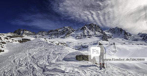 Italien  Gran Paradiso  Skifahren in der Chabod Hütte