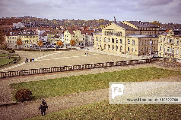 Deutschland  Bayern  Coburg  Schlosspark und Theater