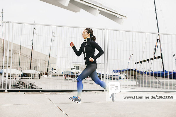 Spanien  Barcelona  Joggerin