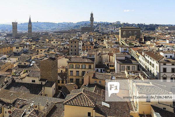 Italien  Toskana  Florenz  Stadtansicht und Palazzo Vecchio