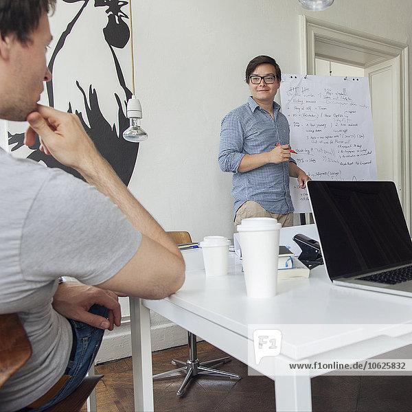 Zwei Kreativprofis beim Brainstorming