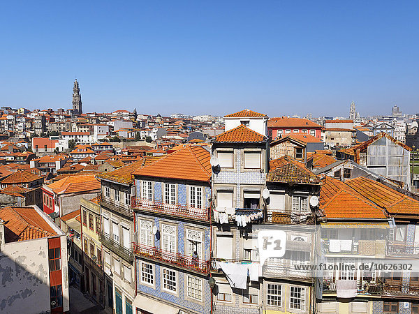 Portugal  Grande Porto  View of Porto  Torre dos Clerigos in the background