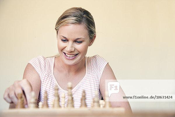 Porträt einer Schachspielerin Porträt einer Schachspielerin
