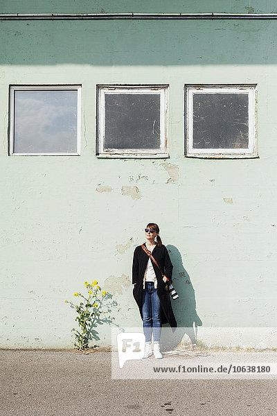 angelehnt, Wand, Fotograf
