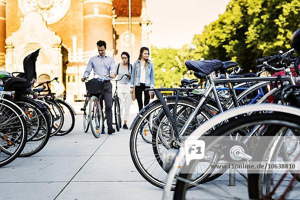 Freundschaft parken Fahrrad Rad