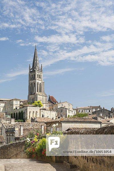 Felsenkirche  Saint-Émilion  Département Gironde  Aquitanien  Frankreich  Europa