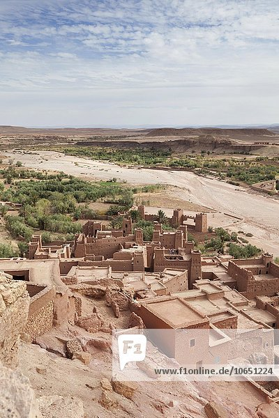 Ksar von Aït Benhaddou  befestigte Stadt  bei Ouarzazate  Marokko  Afrika