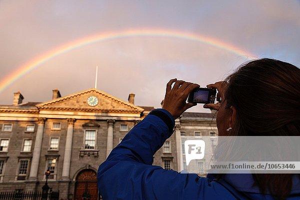 Dublin Hauptstadt Europa Hochschule Irland Regenbogen