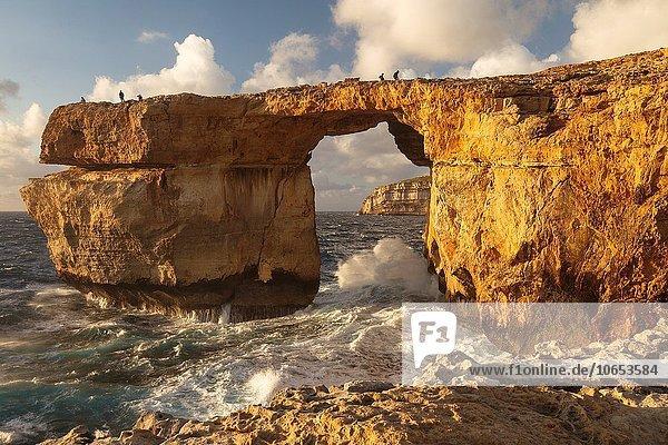 Europa Fenster blau Gozo Malta