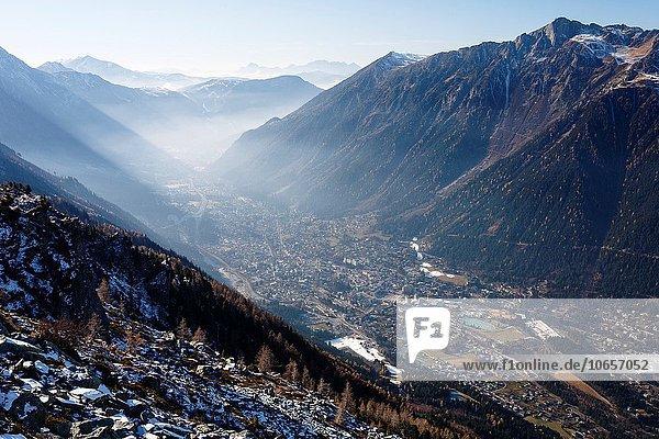 Frankreich Europa Französische Alpen Chamonix Savoie