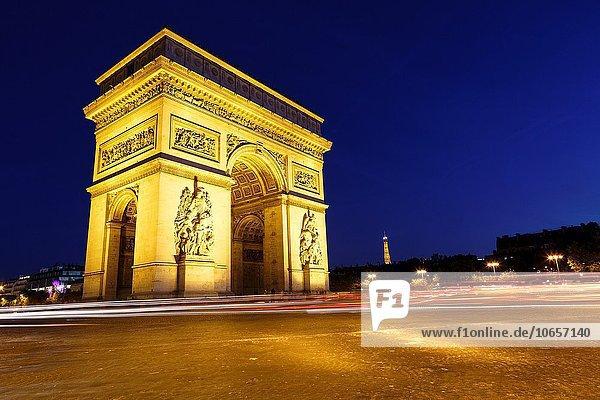 sternförmig Paris Hauptstadt Frankreich Europa Erfolg Brücke