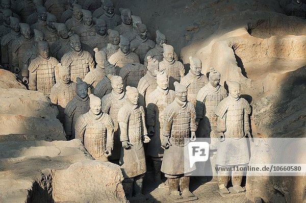 Museum der Terrakotta-Armee  Mausoleum Qín Shihuángdìs  Xian  Provinz Shaanxi  China  Asien