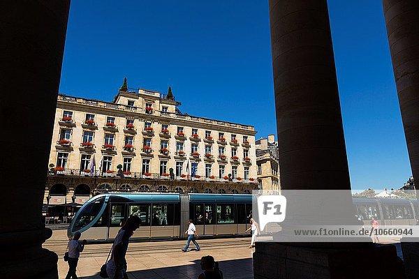 Frankreich, Europa, Ehrfurcht, Hotel, Quadrat, Quadrate, quadratisch, quadratisches, quadratischer, Aquitanien, Bordeaux, Gironde, Platz