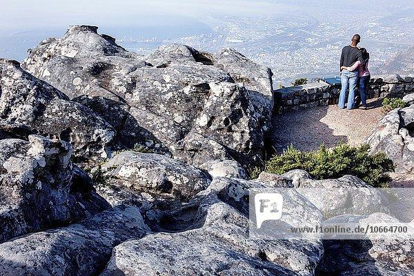 Südliches Afrika Südafrika Naturschutzgebiet Frau Mann folgen schwarz hoch oben Ignoranz Kapstadt