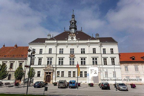 Rathaus Europa Stadtplatz Tschechische Republik Tschechien UNESCO-Welterbe Stadthalle