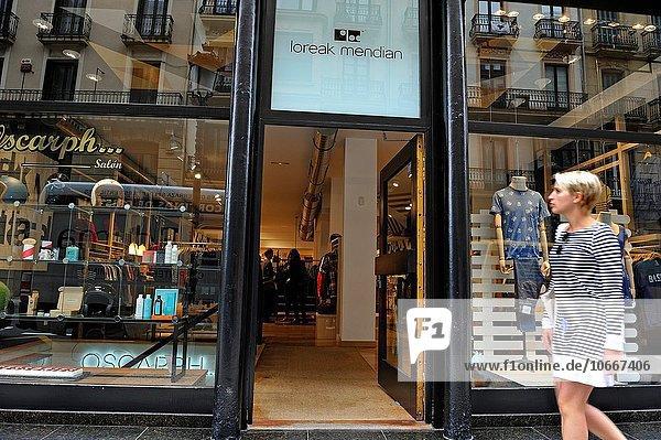 Europa Fenster Laden Mode San Sebastian Spanien Baskenland