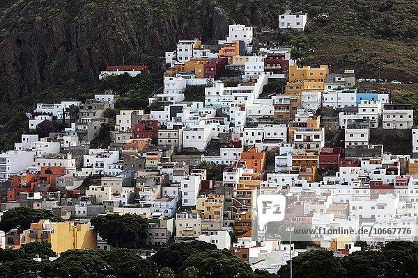 Bunte Häuser von San Andres  Teneriffa  Kanarische Inseln  Spanien  Europa