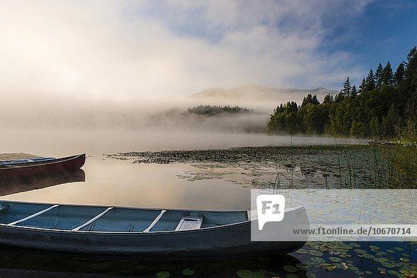 Boote im See,  Dutch Lake,  Clearwater,  British Columbia,  Kanada,  Nordamerika