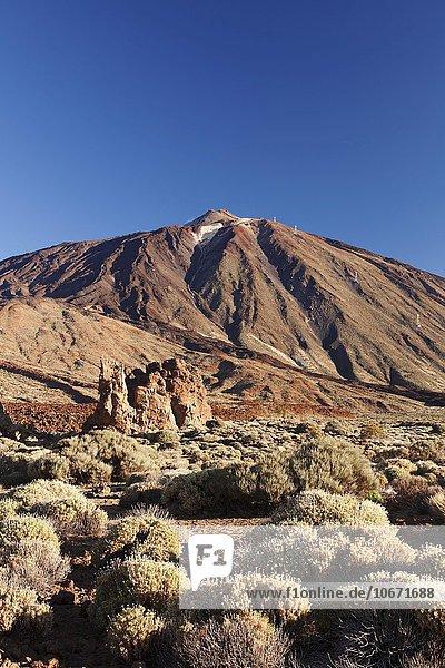 Pico del Teide  Caldera de las Canadas  Teide-Nationalpark  UNESO Weltnaturerbe  Teneriffa  Kanarische Inseln  Spanien  Europa