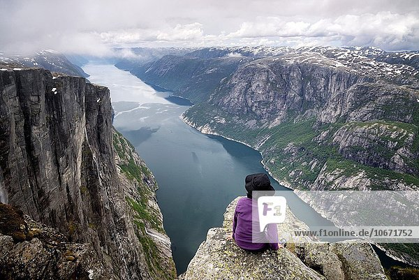 sehen wandern unterhalb Fjord