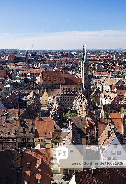 Altstadt mit St. Sebald  Nürnberg  Mittelfranken  Franken  Bayern  Deutschland  Europa