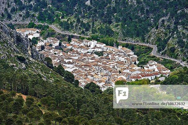Tal Andalusien Grazalema schmal Spanien