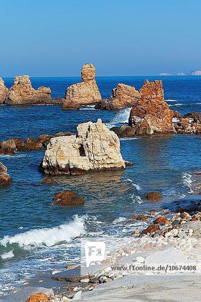 Felsen Bucht Griechenland Halbinsel