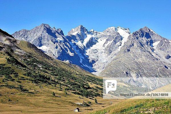 überqueren Frankreich Französische Alpen Ansicht Richtung