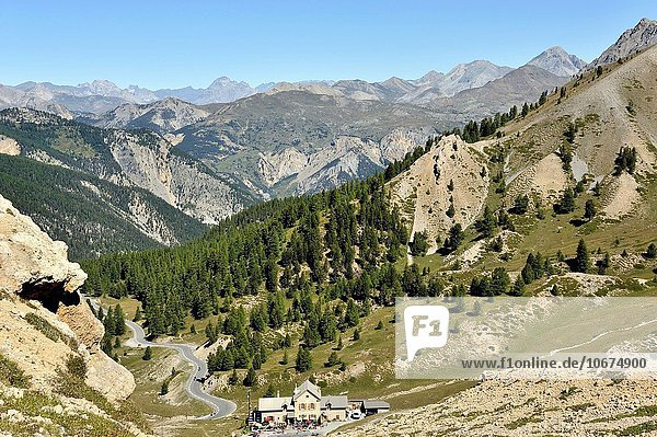 Panorama Frankreich Französische Alpen Ansicht Hostel unterhalb