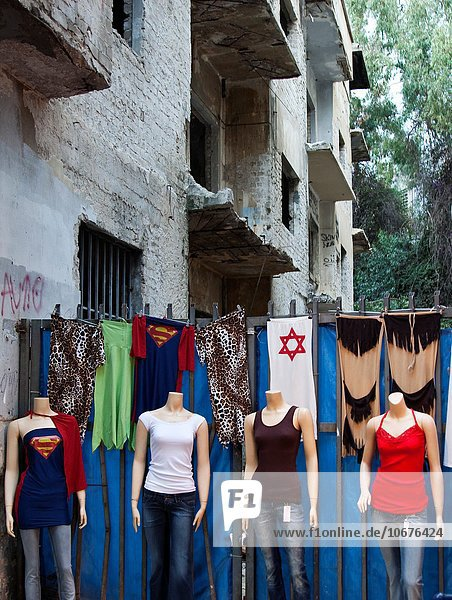Mannequins in the streets of Tel Aviv. Tel Aviv  Israel  Asia.