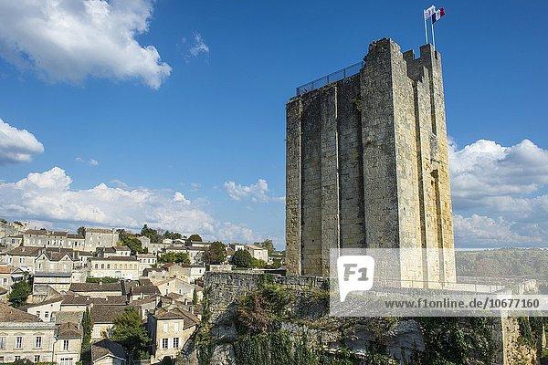 Chateau du Roi  Burg mit Wehrturm  Saint Emilion  Département Gironde  Frankreich  Europa
